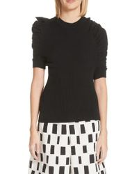 Junya Watanabe - Ruched Sleeve Ribbed Sweater - Lyst