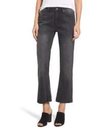Sincerely Jules - High Waist Crop Flare Jeans - Lyst