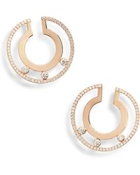 b0c005082 Messika Move Joaillerie 18ct Rose-gold And Diamond Hoop Earrings in ...