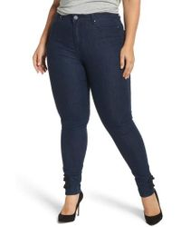 Lost Ink - Super High-waist Skinny Ankle Jeans - Lyst