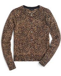 J.Crew - Jackie Cardigan Sweater In Leopard - Lyst