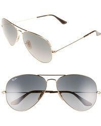 14df3511bc Lyst - Ray-Ban Aviator Sunglasses With Mirror Lenses in Black for Men