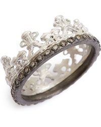Armenta - Old World Half Crown Diamond Ring - Lyst