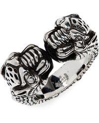 945fdd680 Gucci Diamantissima Wide Ring In Sterling Silver in Metallic for Men - Lyst