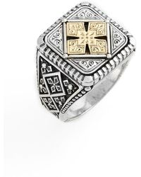 Konstantino - Silver & Gold Classics Square Ring - Lyst