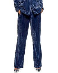 TOPSHOP - Crinkled Velvet Trousers - Lyst