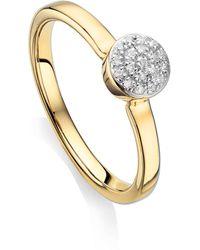 Monica Vinader - Fiji Mini Diamond Button Stack Ring - Lyst
