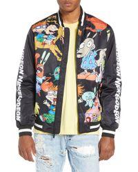 df4cf7165 Members Only Nickelodeon Reversible Bomber Jacket in Black for Men ...