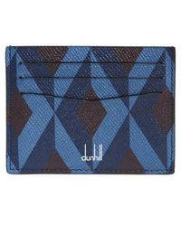 Dunhill - Cadogan Diamond Print Leather Card Case - - Lyst
