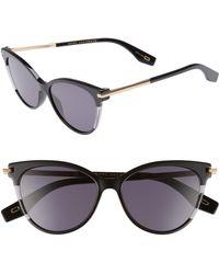 f1a2a23f6e50 Marc Jacobs 50mm Cat Eye Sunglasses - Dark Havana in Brown - Lyst