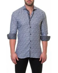 Maceoo - Wall Street Electric Grey Slim Fit Sport Shirt - Lyst