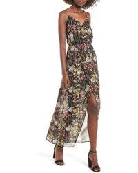 Mimi Chica - Surplice High/low Maxi Dress - Lyst