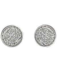 CARRIERE JEWELRY - Carriere Pave Disc Stud Earrings (nordstrom Exclusive) - Lyst