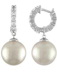 Majorica - Imitation Pearl Drop Earring - Lyst