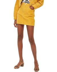 TOPSHOP - Corduroy Skirt - Lyst