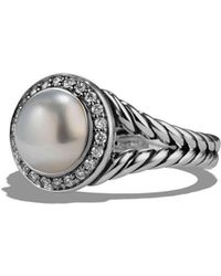 David Yurman - 'cerise' Ring With Pearl And Diamonds - Lyst