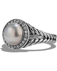 David Yurman - 'cerise' Ring With Pearl And Diamonds - Lyst