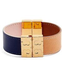 Tory Burch - Colorblock Reversible Leather Bracelet - Lyst