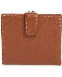Longchamp - 'le Foulonne' Pebbled Leather Wallet - Lyst