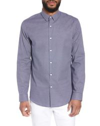 Calibrate - Trim Fit Micro Collar Sport Shirt - Lyst