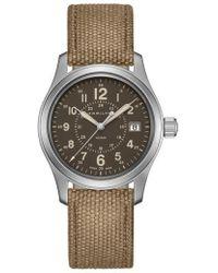Hamilton - Khaki Field Canvas Strap Watch - Lyst