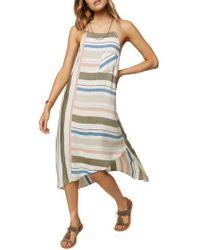 O'neill Sportswear - Sorbet Stripe Midi Dress - Lyst