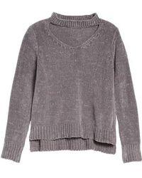 Love By Design - Chenille Choker Neck Sweater - Lyst