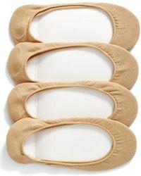Hue - 4-pack Liner Socks, Beige - Lyst