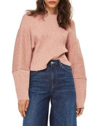 TOPSHOP - Textured Crinkle Top - Lyst