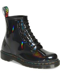 Dr. Martens - 1460 Rainbow Patent Boot - Lyst