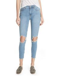 Free People - High Waist Ankle Skinny Jeans - Lyst