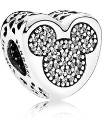 d78c6fda9 PANDORA Disney Jewelry Collections Silver Cz Minnie & Mickey Infinity Charm  in Metallic - Lyst