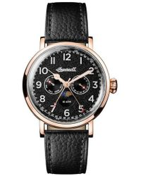 INGERSOLL WATCHES - Ingersoll St. John Moonphase Leather Strap Watch - Lyst