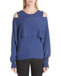 Fuzzi - Layered Cold Shoulder Sweater - Lyst