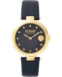 Versus - Versace Buffle Bay Leather Strap Watch - Lyst
