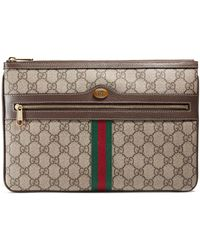 bf4ac73b4cc Gucci - Ophidia Gg Supreme Canvas Zip Pouch - Lyst
