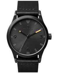 Triwa - 'sort Of Black' Leather Strap Watch - Lyst