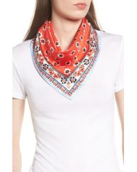 Tory Burch - Floral Stamped Silk Scarf - Lyst