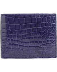 Mezlan - Alligator Leather Bifold Wallet - - Lyst