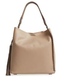 AllSaints | Kepi North/south Leather Tote | Lyst