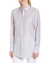 Nordstrom - Stripe Popover Shirt - Lyst