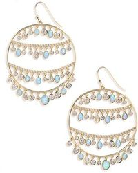 Melinda Maria - Fox Opal & Crystal Drop Earrings - Lyst