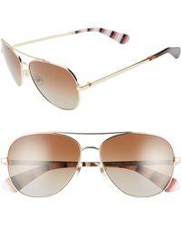 Kate Spade - Avaline 2 58mm Polarized Aviator Sunglasses - Lyst