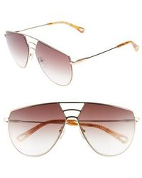Chloé - Negative Space 62mm OverGold/ Brown - Lyst