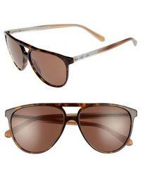 Burberry - 58mm Aviator Sunglasses - Dark Havana - Lyst