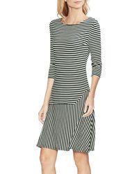 889b6ab015316 Vince Camuto Long-sleeve Turtleneck Fringe Dress in Black - Lyst