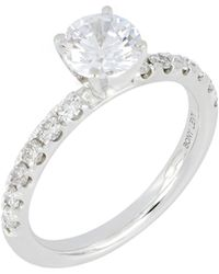 Bony Levy - Pave Diamond Round Engagement Ring Setting (nordstrom Exclusive) - Lyst