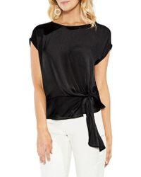 Vince Camuto - Side Tie Satin Blouse - Lyst