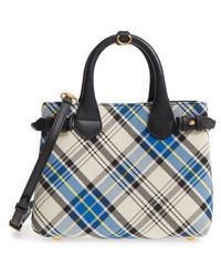 Burberry - Small Banner Tartan Mix Tote - Lyst