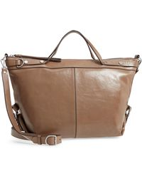 Treasure & Bond - Perry Glazed Leather Convertible Satchel - Lyst